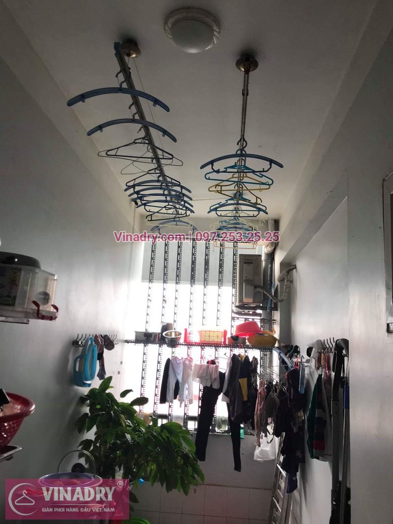 Vinadry thay 2 dây cáp giàn phơi giá rẻ cho nhà anh Phong tại căn 903 nhà A2, KĐT Mỹ Đình 1, Nguyễn Cơ Thạch, Nam Từ Liêm - 07