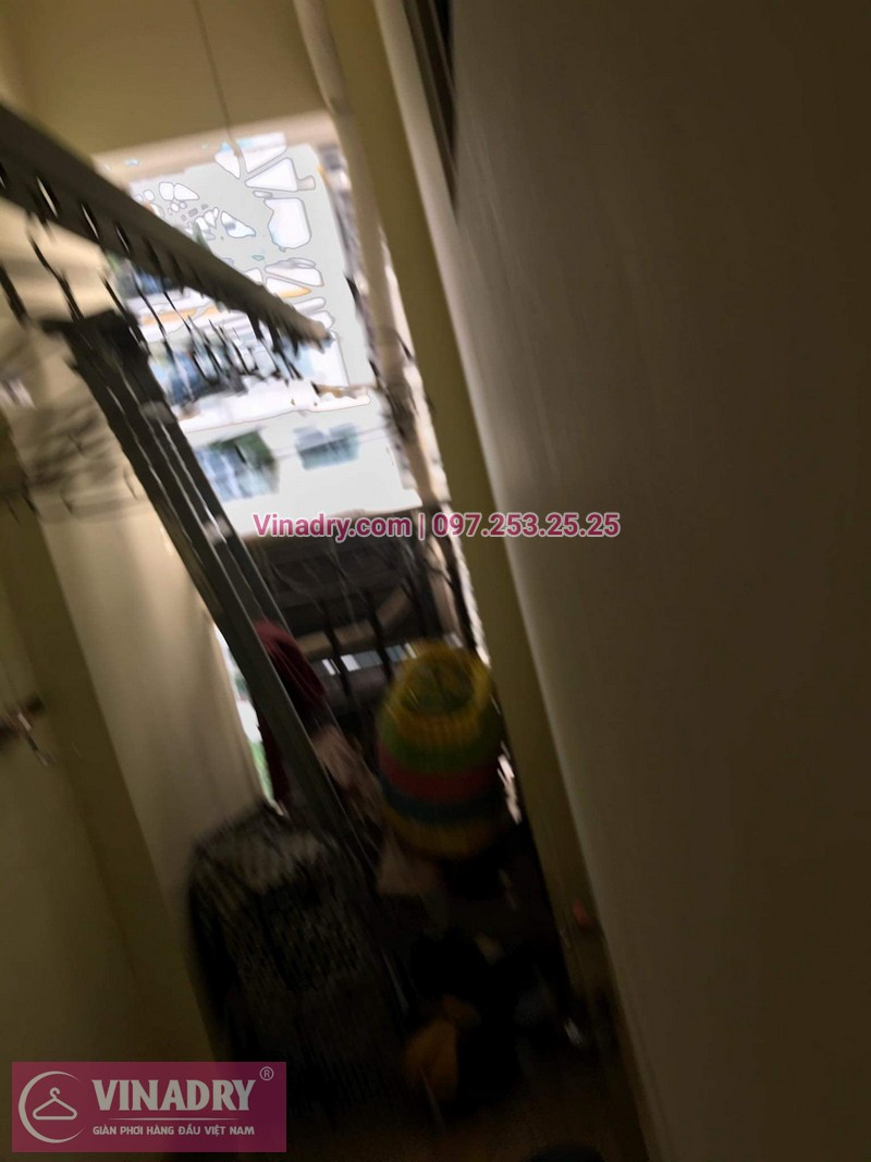 Vinadry thay dây cáp giàn phơi nhanh tại 505 Minh Khai, Hai Bà Trưng cho nhà chị Gấm - 02