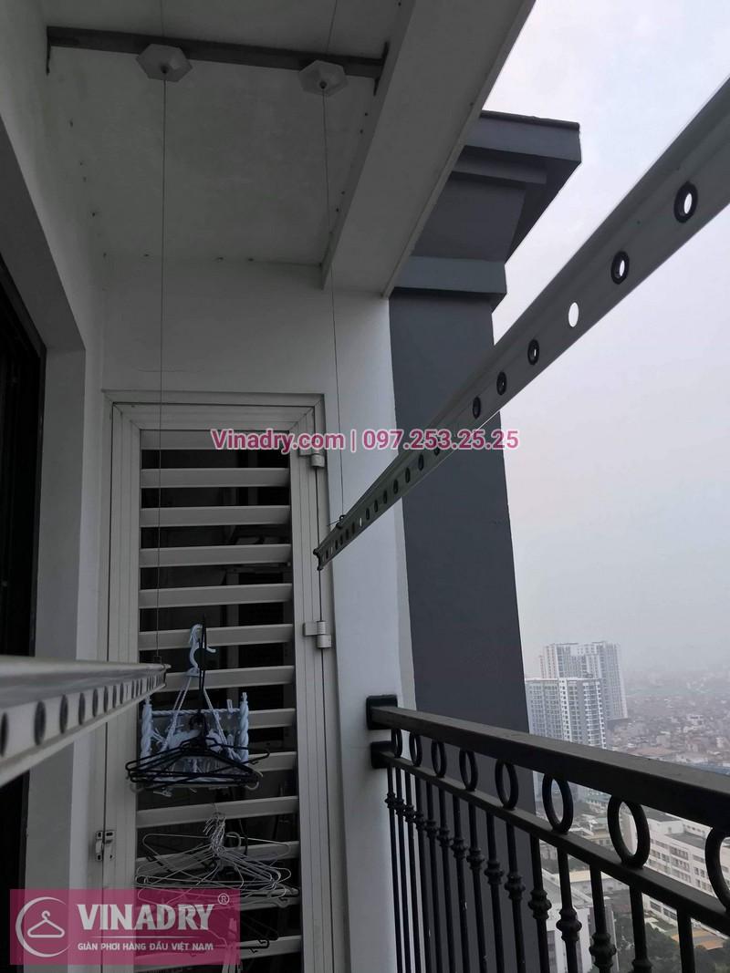Vinadry thay dây cáp giàn phơi thông minh tại Times City cho nhà anh Tuân, căn 3016, tòa T8 - 07