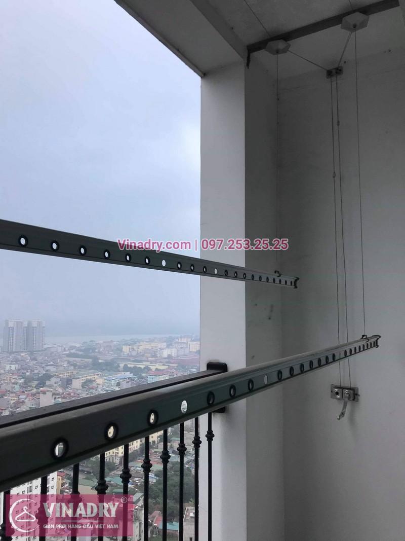 Vinadry thay dây cáp giàn phơi thông minh tại Times City cho nhà anh Tuân, căn 3016, tòa T8 - 10