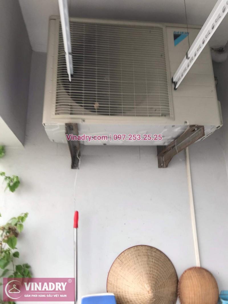 Vinadry chỉ cách thay dây giàn phơi thông minh khi bị đứt cáp cho nhà chi Hợi tại Ecohome 2, Bắc Từ Liêm - 04