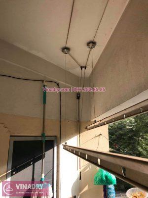 Vinadry thay toàn bộ dây cáp giàn phơi tại căn 306 VP4, bán đảo Linh Đàm cho giá đình chú Túc