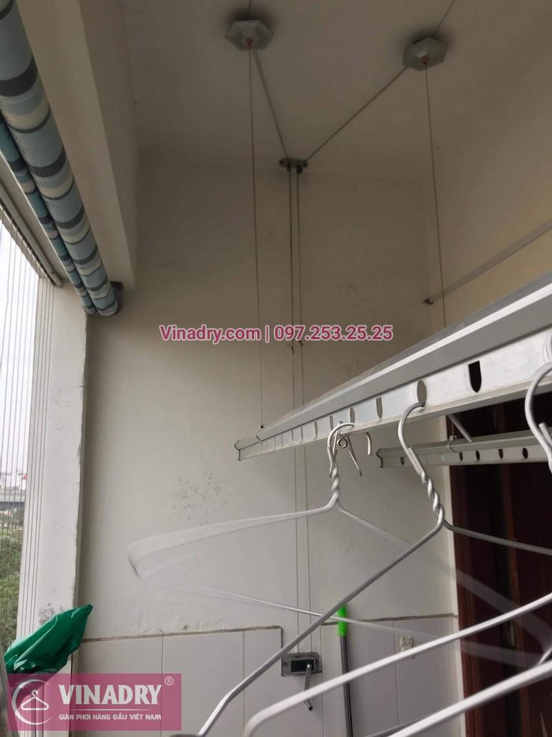 Vinadry thay dây cáp giàn phơi giá rẻ tại Việt Hưng, Long Biên cho nhà chị Liên - 01