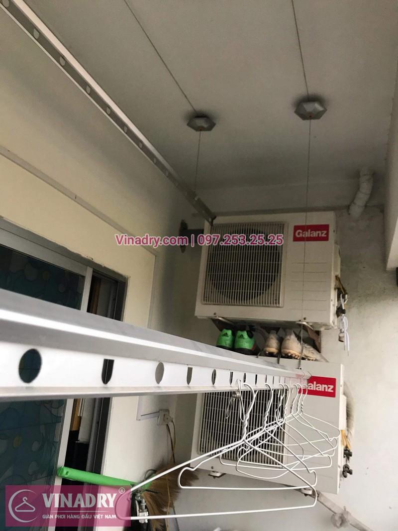 Vinadry thay dây cáp giàn phơi giá rẻ tại Việt Hưng, Long Biên cho nhà chị Liên - 02
