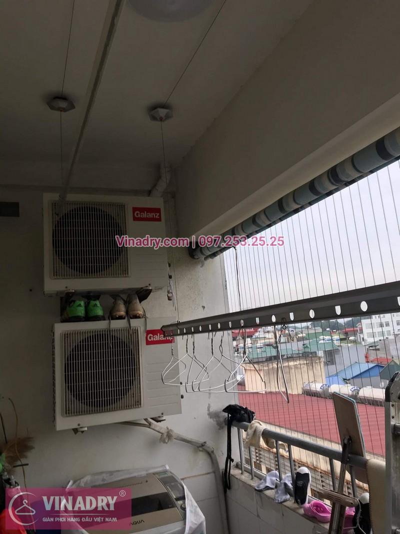 Vinadry thay dây cáp giàn phơi giá rẻ tại Việt Hưng, Long Biên cho nhà chị Liên - 04