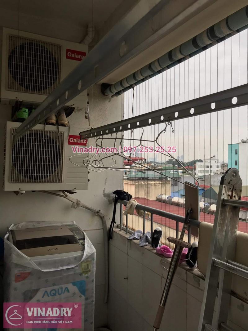 Vinadry thay dây cáp giàn phơi giá rẻ tại Việt Hưng, Long Biên cho nhà chị Liên - 05