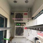 Vinadry thay dây cáp giàn phơi giá rẻ tại Việt Hưng, Long Biên cho nhà chị Liên