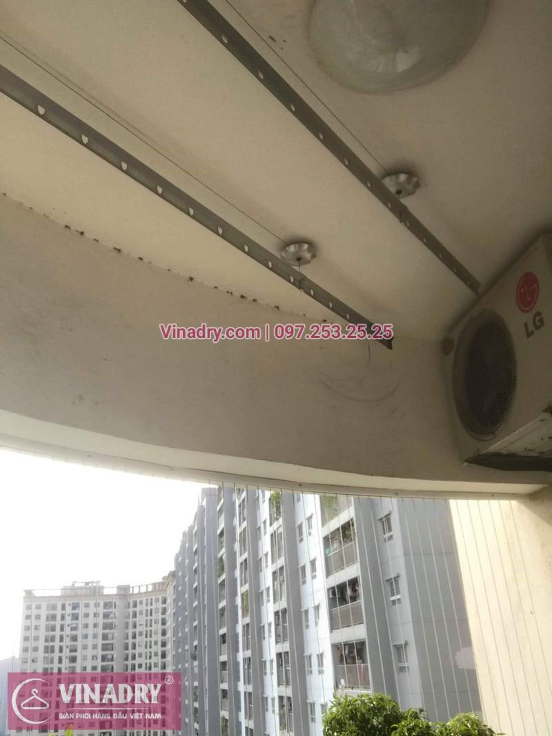 Vinadry lắp giàn phơi KS950 và lưới an toàn ban công tại Thanh Xuân cho nhà anh Tiến