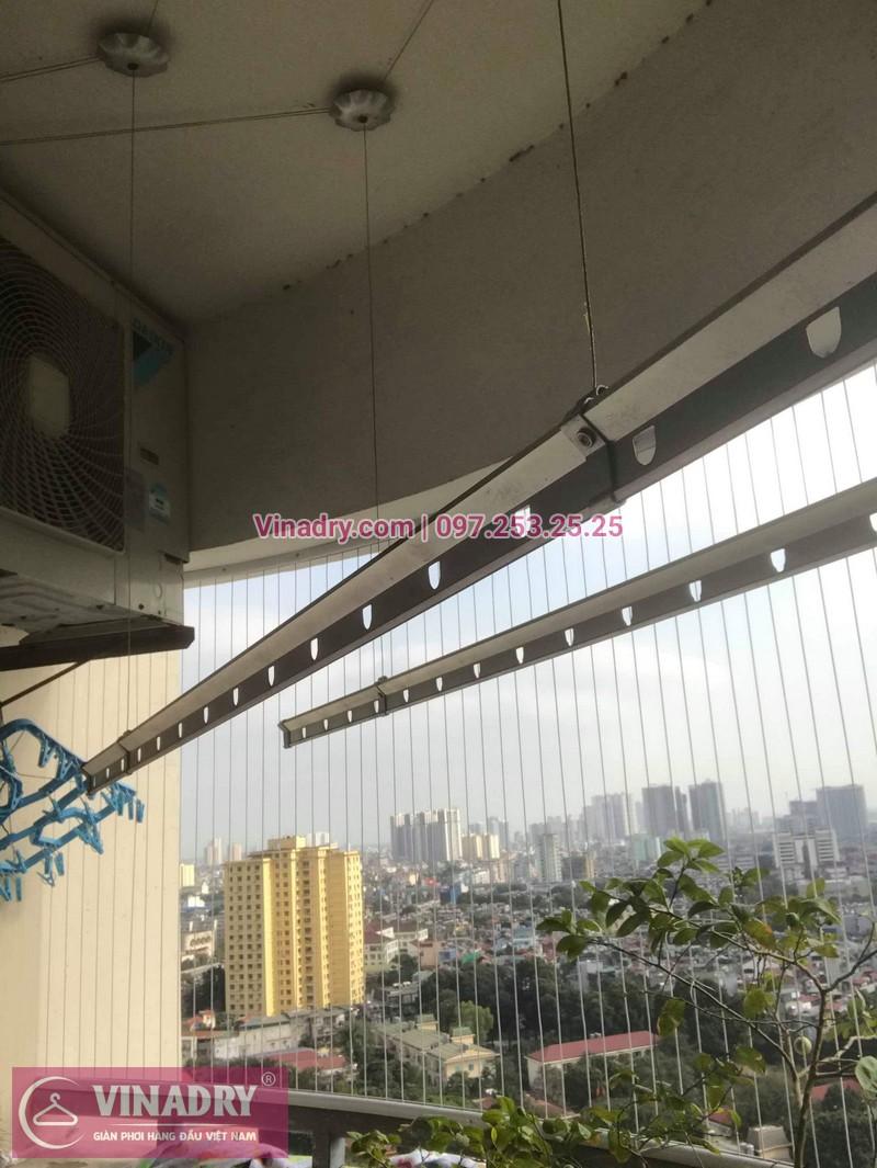 Lắp giàn phơi thông minh giá rẻ - Lưới an toàn ban công giá tốt - Vinadry lắp giàn phơi KS950 và lưới an toàn ban công tại Thanh Xuân cho nhà anh Tiến - 04