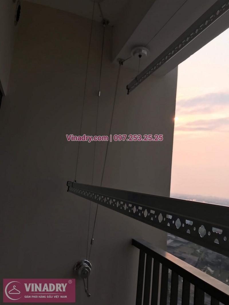 Giàn phơi thông minh - Vinadry lắp giàn phơi thông minh HP701 tại Ecopark cho nhà chị Thư - ảnh 04