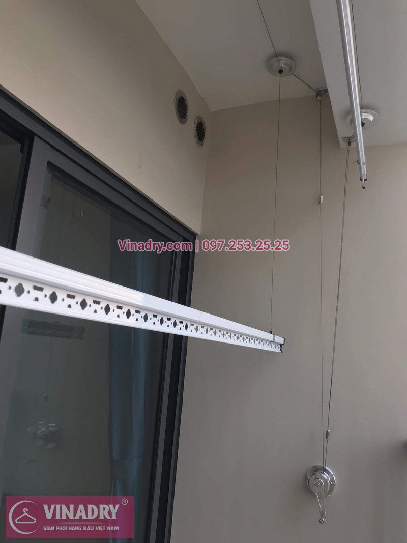 Giàn phơi thông minh - Vinadry lắp giàn phơi thông minh HP701 tại Ecopark cho nhà chị Thư - ảnh 05