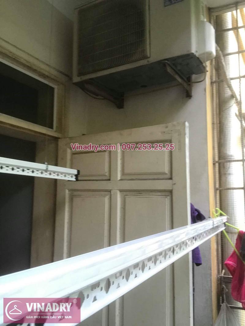Lắp giàn phơi thông minh giá rẻ - Vinadry lắp giàn phơi HP999B tại chung cư Newtaco, Ba Đình cho nhà anh Kiên - 01