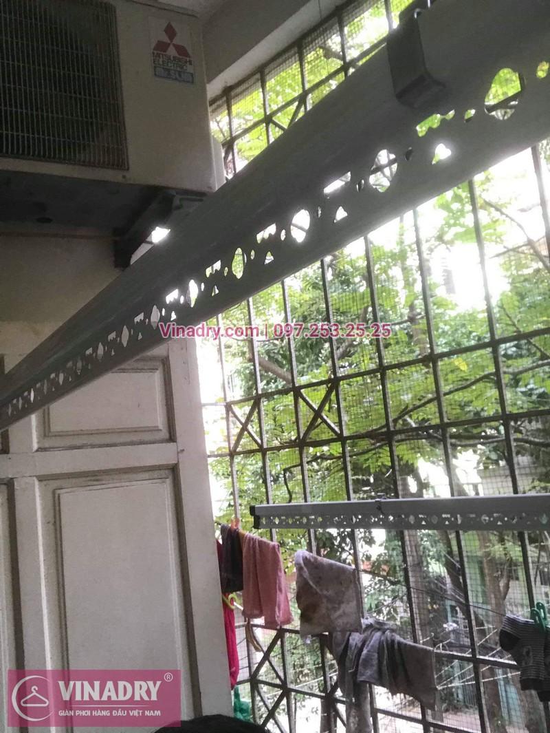 Lắp giàn phơi thông minh giá rẻ - Vinadry lắp giàn phơi HP999B tại chung cư Newtaco, Ba Đình cho nhà anh Kiên - 02
