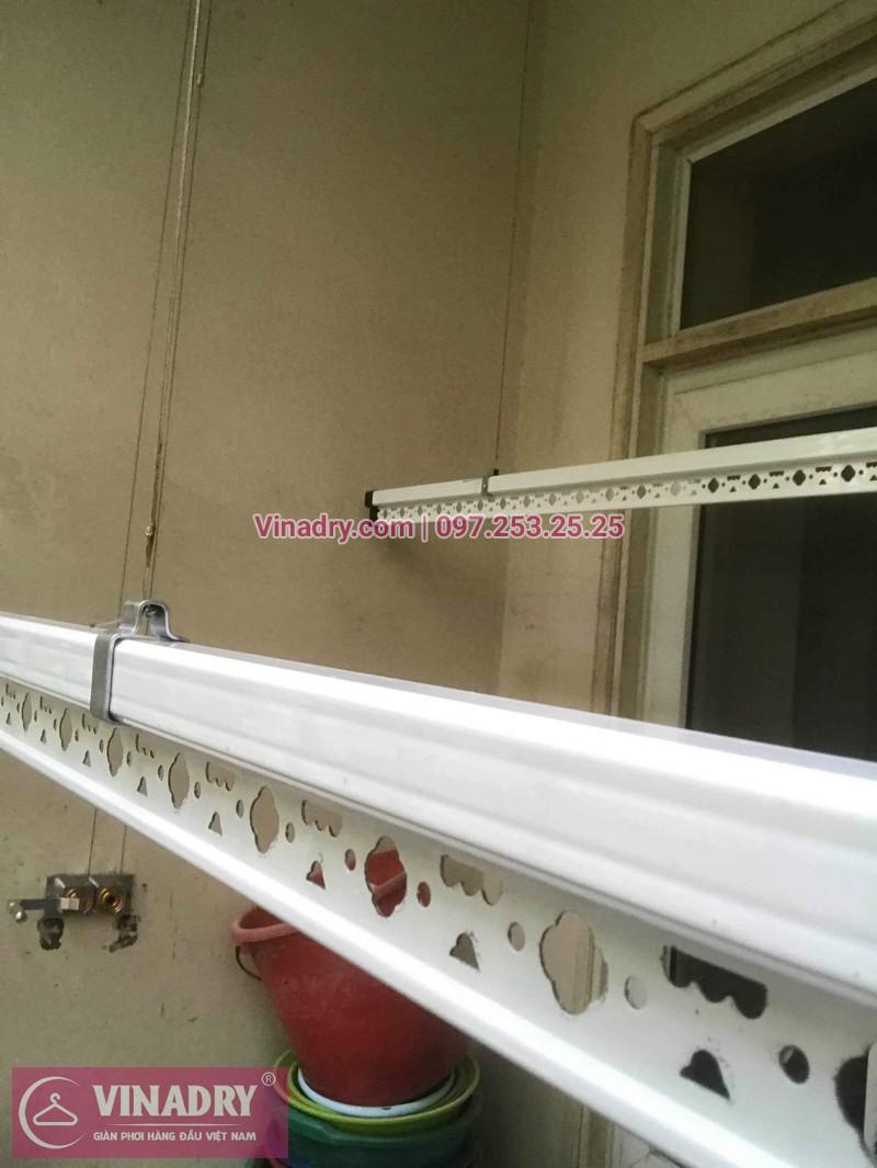 Lắp giàn phơi thông minh giá rẻ - Vinadry lắp giàn phơi HP999B tại chung cư Newtaco, Ba Đình cho nhà anh Kiên - 03