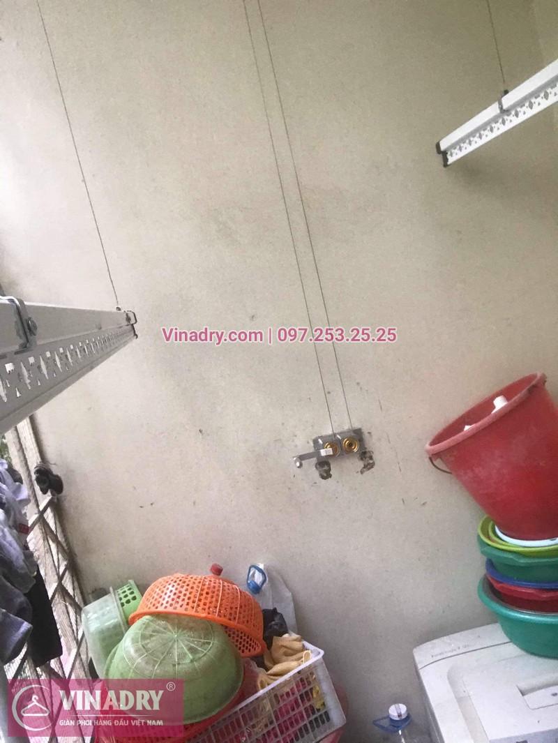 Lắp giàn phơi thông minh giá rẻ - Vinadry lắp giàn phơi HP999B tại chung cư Newtaco, Ba Đình cho nhà anh Kiên - 04