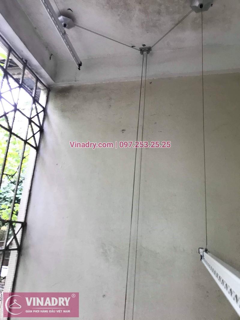 Lắp giàn phơi thông minh giá rẻ - Vinadry lắp giàn phơi HP999B tại chung cư Newtaco, Ba Đình cho nhà anh Kiên - 05