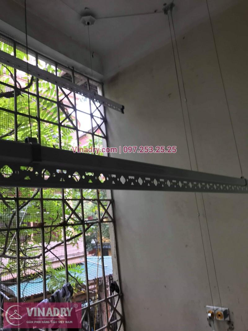 Lắp giàn phơi thông minh giá rẻ - Vinadry lắp giàn phơi HP999B tại chung cư Newtaco, Ba Đình cho nhà anh Kiên - 06