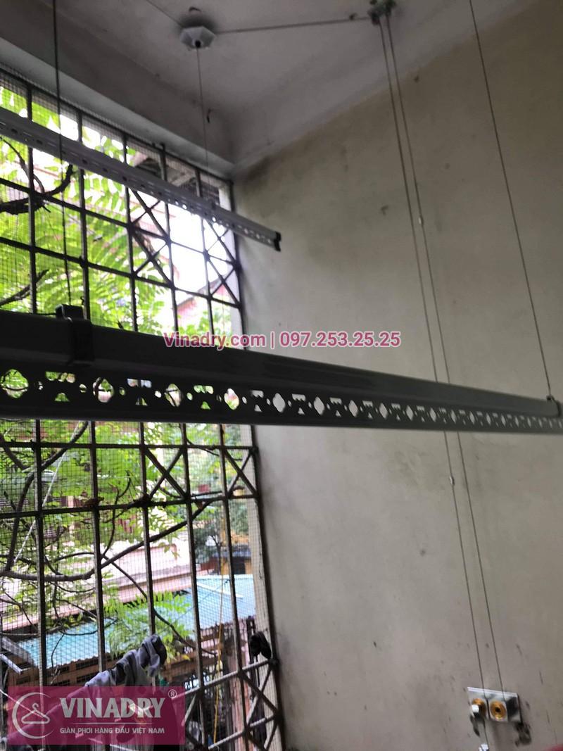 Lắp giàn phơi thông minh giá rẻ - Vinadry lắp giàn phơi HP999B tại chung cư Newtaco, Ba Đình cho nhà anh Kiên - 07