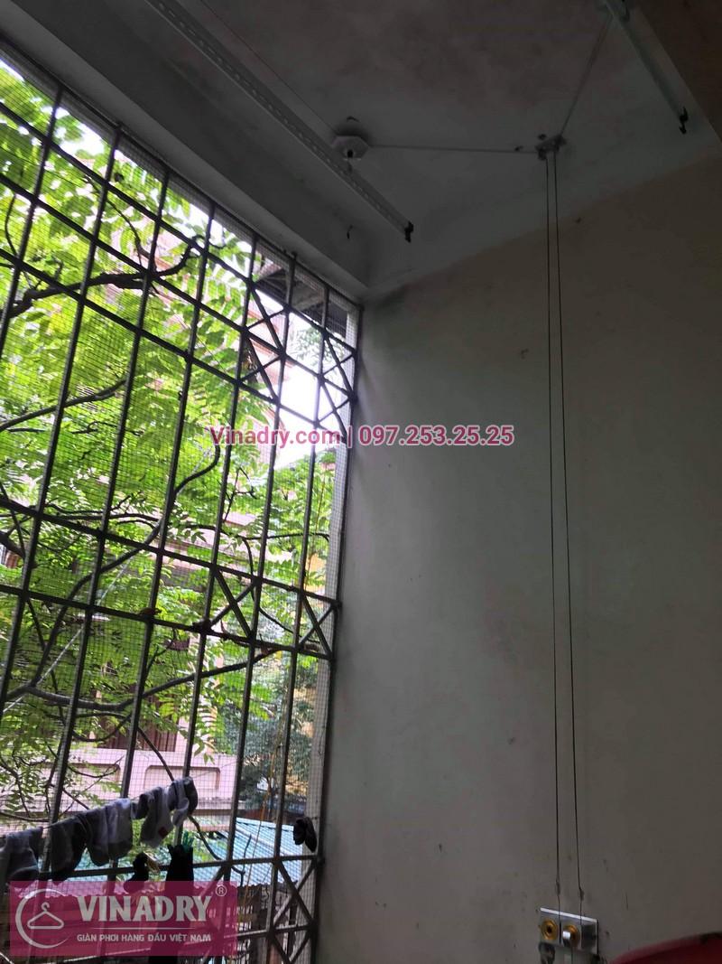 Lắp giàn phơi thông minh giá rẻ - Vinadry lắp giàn phơi HP999B tại chung cư Newtaco, Ba Đình cho nhà anh Kiên - 08