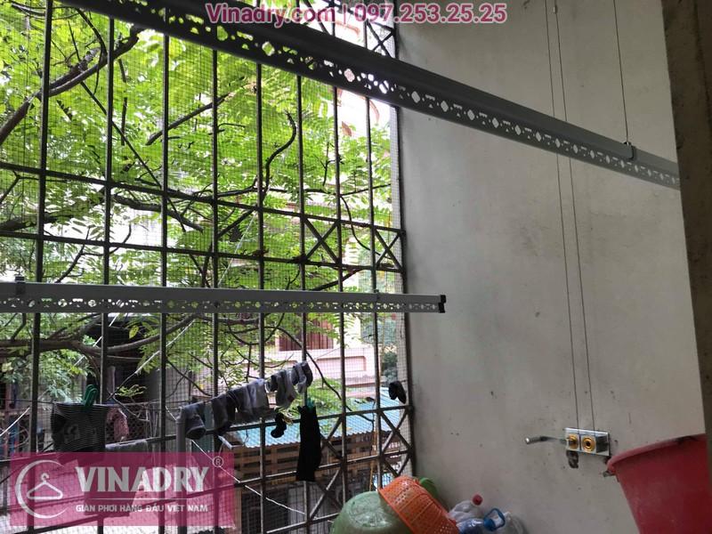 Lắp giàn phơi thông minh giá rẻ - Vinadry lắp giàn phơi HP999B tại chung cư Newtaco, Ba Đình cho nhà anh Kiên - 09