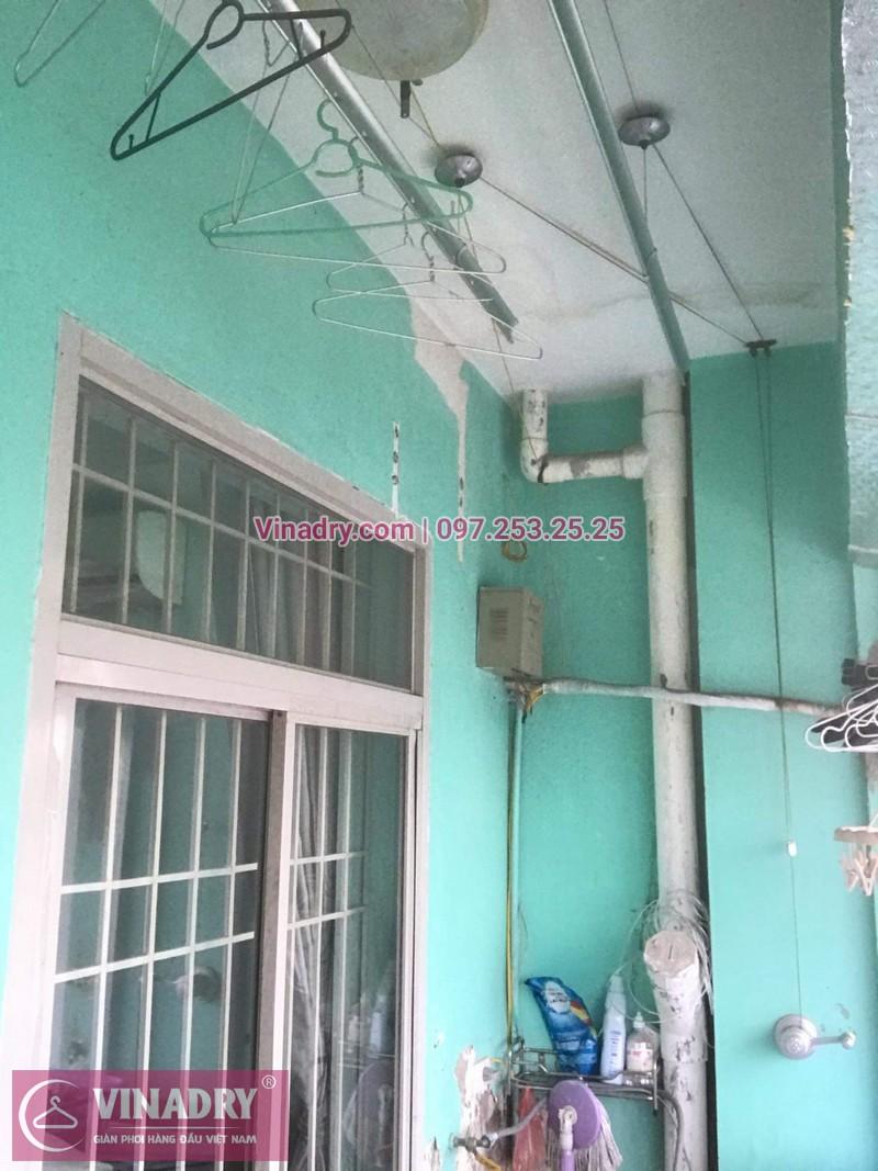 Lắp giàn phơi giá rẻ - Lắp giàn phơi Hòa Phát KS950 cho nhà anh Lực căn hộ 1008, CC2, chung cư Đồng Tàu, Thịnh Liệt, Hoàng Mai