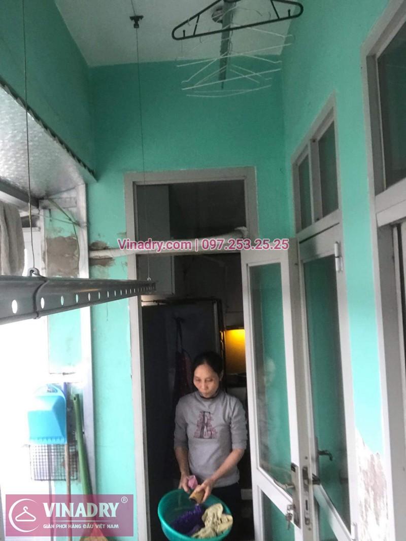 Lắp giàn phơi giá rẻ - Lắp giàn phơi Hòa Phát KS950 cho nhà anh Lực căn hộ 1008, CC2, chung cư Đồng Tàu, Thịnh Liệt, Hoàng Mai - 09