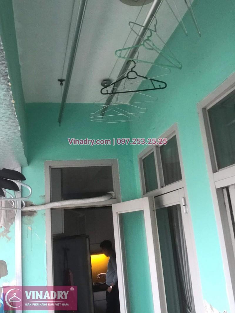 Lắp giàn phơi giá rẻ - Lắp giàn phơi Hòa Phát KS950 cho nhà anh Lực căn hộ 1008, CC2, chung cư Đồng Tàu, Thịnh Liệt, Hoàng Mai - 08