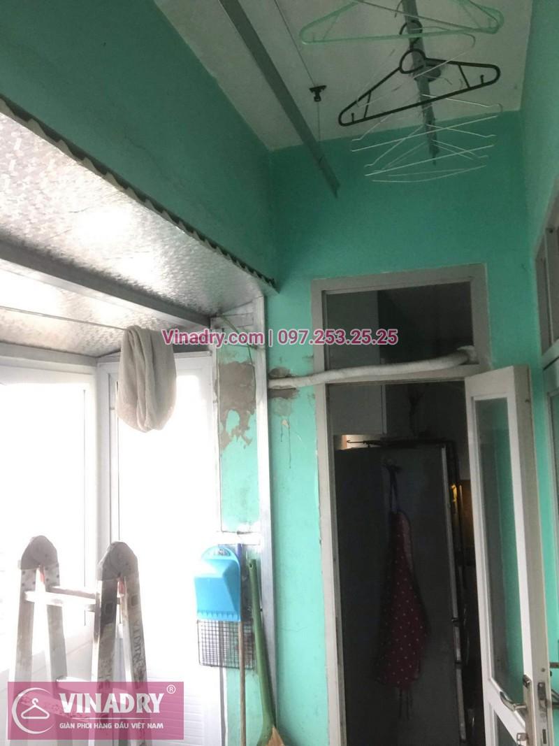 Lắp giàn phơi giá rẻ - Lắp giàn phơi Hòa Phát KS950 cho nhà anh Lực căn hộ 1008, CC2, chung cư Đồng Tàu, Thịnh Liệt, Hoàng Mai - 07