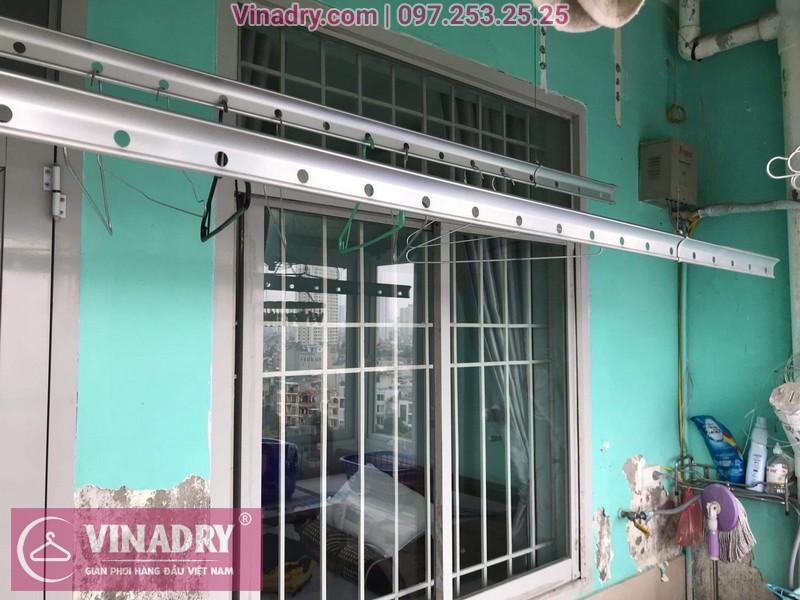 Lắp giàn phơi giá rẻ - Lắp giàn phơi Hòa Phát KS950 cho nhà anh Lực căn hộ 1008, CC2, chung cư Đồng Tàu, Thịnh Liệt, Hoàng Mai - 06