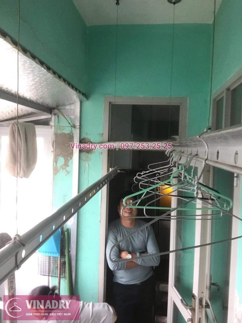 Lắp giàn phơi giá rẻ - Lắp giàn phơi Hòa Phát KS950 cho nhà anh Lực căn hộ 1008, CC2, chung cư Đồng Tàu, Thịnh Liệt, Hoàng Mai - 05