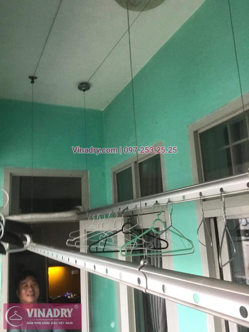 Lắp giàn phơi giá rẻ - Lắp giàn phơi Hòa Phát KS950 cho nhà anh Lực căn hộ 1008, CC2, chung cư Đồng Tàu, Thịnh Liệt, Hoàng Mai - 04