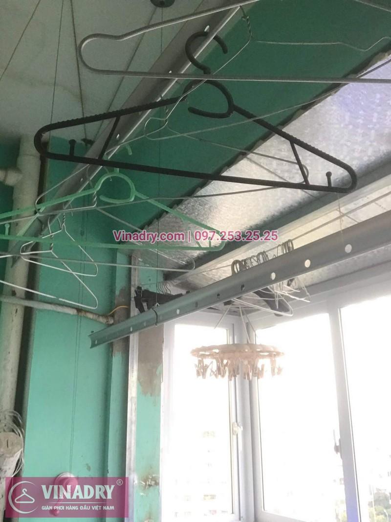 Lắp giàn phơi giá rẻ - Lắp giàn phơi Hòa Phát KS950 cho nhà anh Lực căn hộ 1008, CC2, chung cư Đồng Tàu, Thịnh Liệt, Hoàng Mai - 03