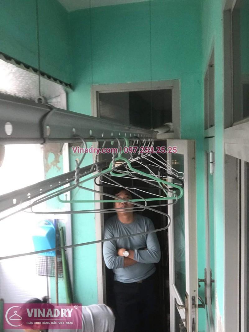 Lắp giàn phơi giá rẻ - Lắp giàn phơi Hòa Phát KS950 cho nhà anh Lực căn hộ 1008, CC2, chung cư Đồng Tàu, Thịnh Liệt, Hoàng Mai - 02