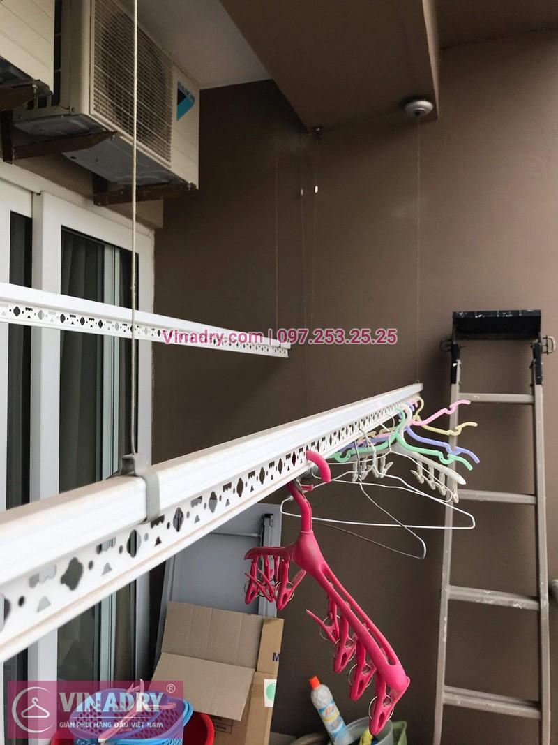Vinadry lắp giàn phơi thông minh KS950 tại Vimeco CT4 Tower, Trung Hòa, Cầu Giấy cho nhà anh Trực - 01