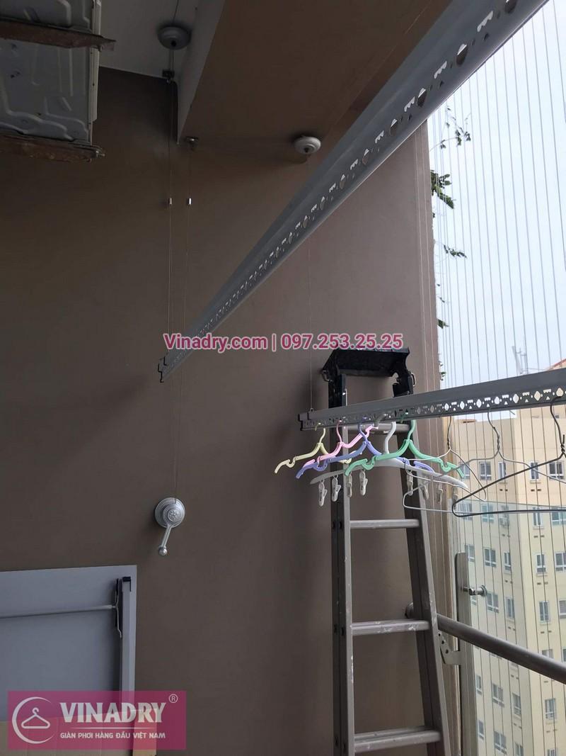 Vinadry lắp giàn phơi thông minh KS950 tại Vimeco CT4 Tower, Trung Hòa, Cầu Giấy cho nhà anh Trực - 02