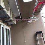 Vinadry lắp giàn phơi KS950 và lưới an toàn ban công tại Vimeco CT4 Tower, Trung Hòa, Cầu Giấy cho nhà anh Trực