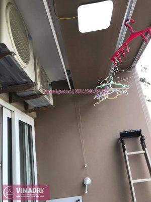 Lắp giàn phơi thông minh giá rẻ, uy tín tại Hà Nội - Vinadry lắp giàn phơi KS950 và lưới an toàn ban công tại Vimeco CT4 Tower, Trung Hòa, Cầu Giấy cho nhà anh Trực