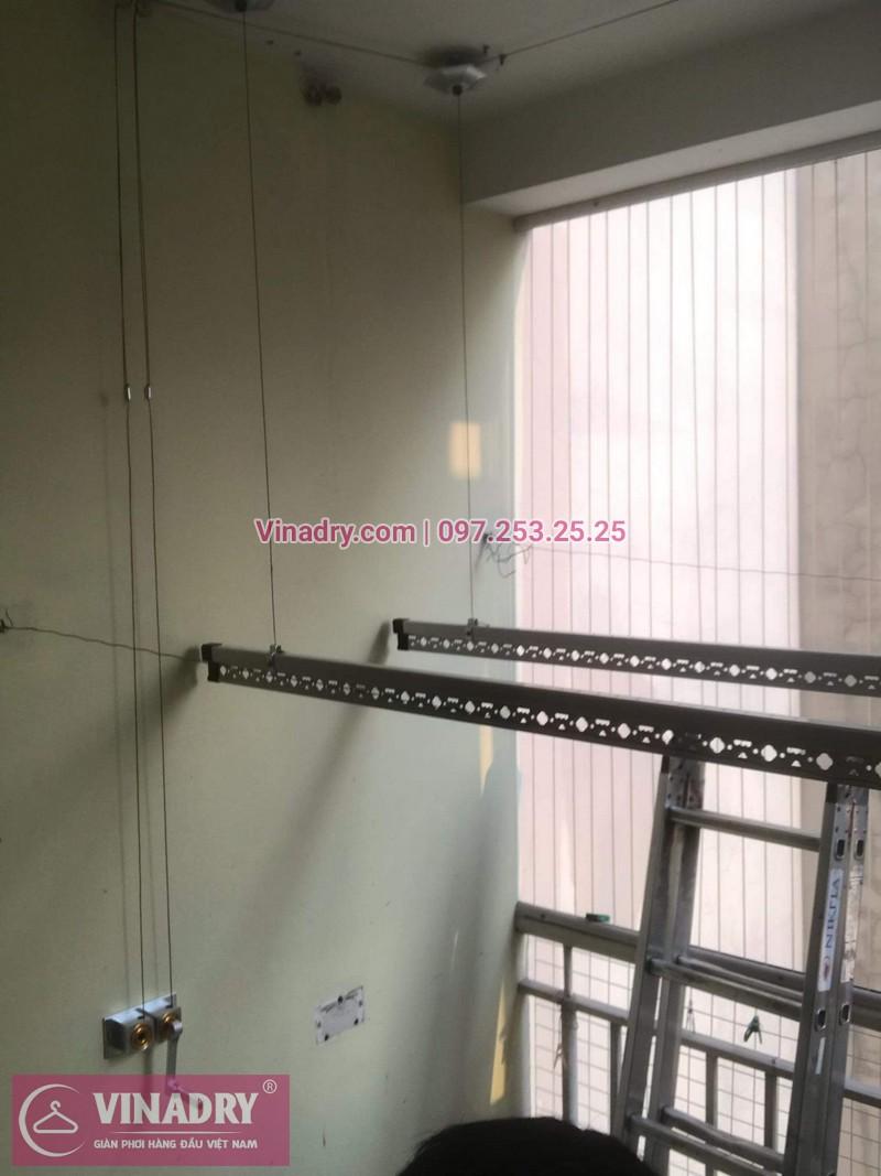 Vinadry lắp giàn phơi siêu rẻ HP999B tại KĐT Việt Hưng, Long Biên cho nhà anh Tạ - 07