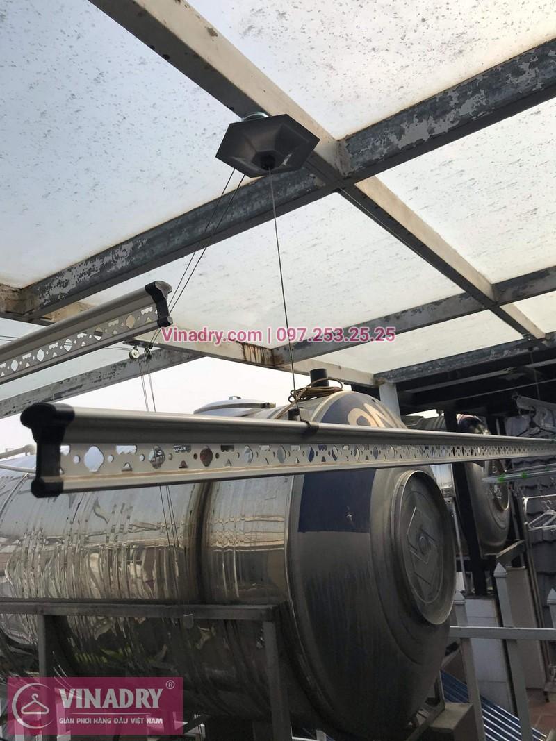 Vinadry lắp giàn phơi cực bền KS950 tại số 12, đường Anh Đào 6, Vinhomes Long Biên cho nhà anh Dự - 06