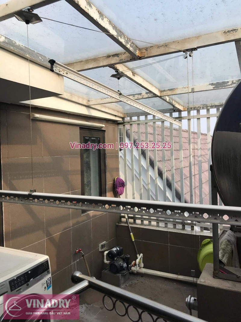 Vinadry lắp giàn phơi cực bền KS950 tại số 12, đường Anh Đào 6, Vinhomes Long Biên cho nhà anh Dự - 10