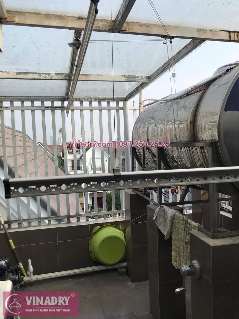 Vinadry lắp giàn phơi giá rẻ nhất Hà Nội - Lắp giàn phơi cực bền KS950 tại số 12, đường Anh Đào 6. Vinhomes Long Biên - Lắp giàn phơi thông minh KS950 giá rẻ