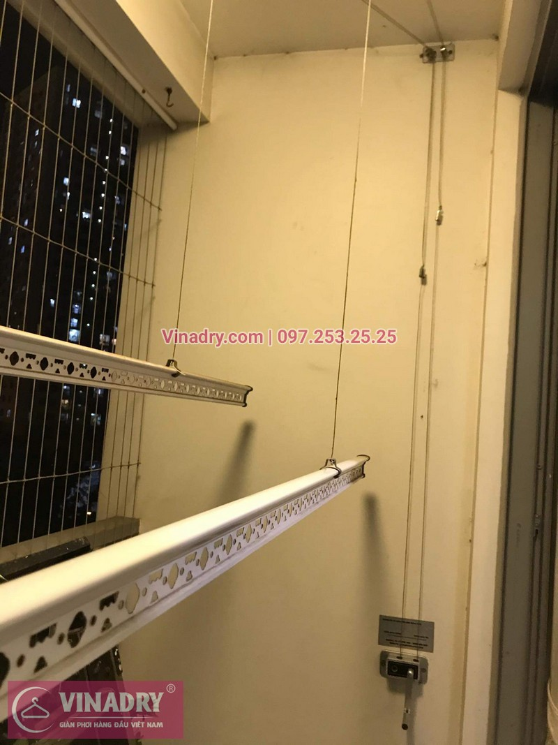 Vinadry lắp đặt giàn phơi thông minh giá rẻ HP368 tại ParkHill, TimesCity, căn 0511 cho nhà chú Tín - 05