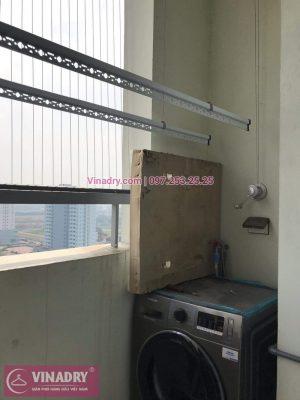 Giàn phơi thông minh - Vinadry lắp giàn phơi thông minh và lưới an toàn ban công tại Hoàng Mai, chung cư K35 Tân Mai - Lắp giàn phơi KS950 giá rẻ nhất tại Hà Nội