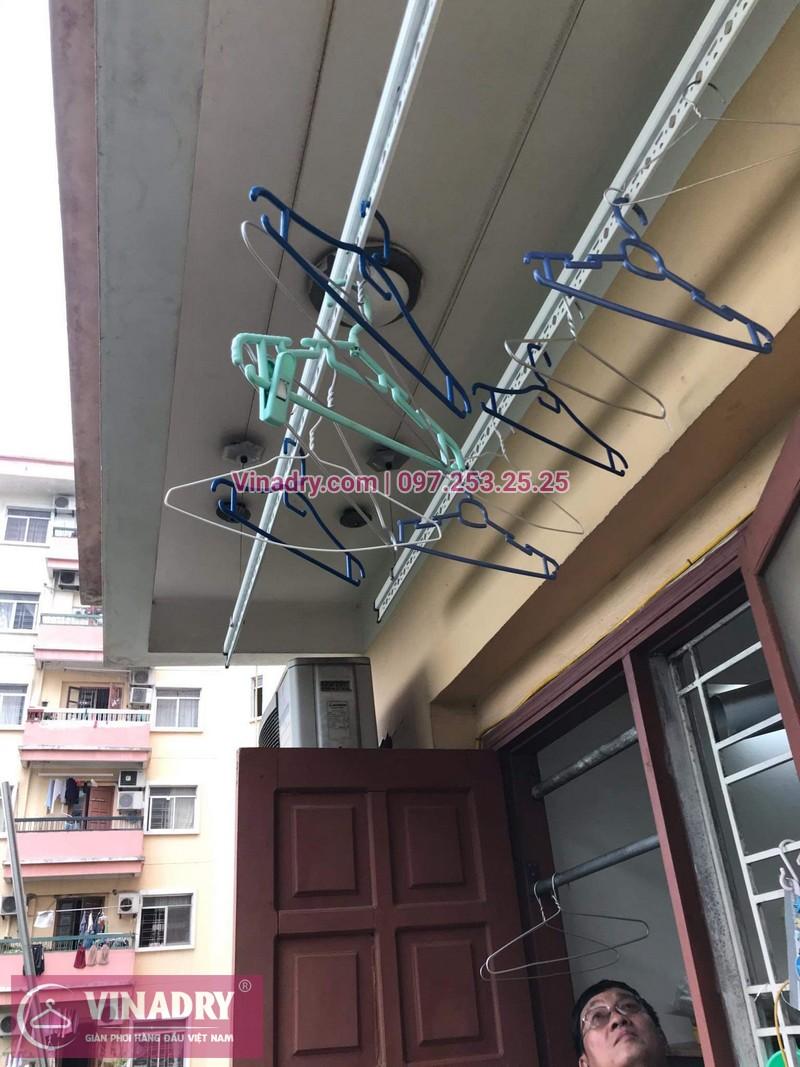 Sửa chữa giàn phơi thông minh - Thay bộ tời KS950 chất lượng cho nhà chú Kiêm tại tòa N7B căn 620 bán đảo Linh Đàm