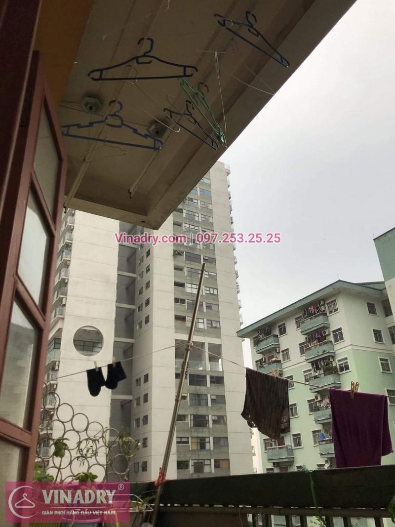 Sửa chữa giàn phơi thông minh - Thay bộ tời KS950 chất lượng cho nhà chú Kiêm tại tòa N7B căn 620 bán đảo Linh Đàm - 01