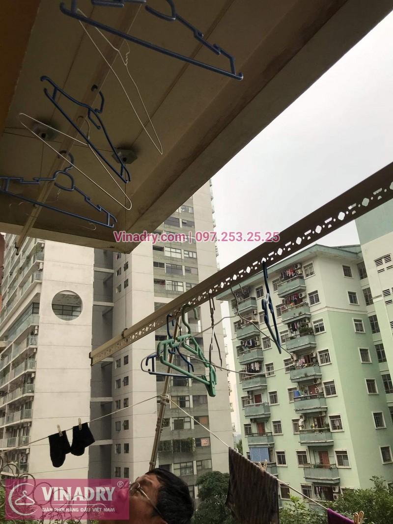Sửa chữa giàn phơi thông minh - Thay bộ tời KS950 chất lượng cho nhà chú Kiêm tại tòa N7B căn 620 bán đảo Linh Đàm - 02