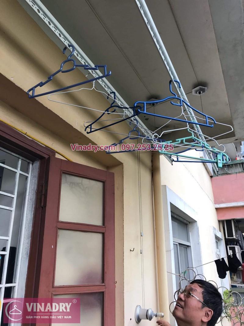 Sửa chữa giàn phơi thông minh - Thay bộ tời KS950 chất lượng cho nhà chú Kiêm tại tòa N7B căn 620 bán đảo Linh Đàm - 03