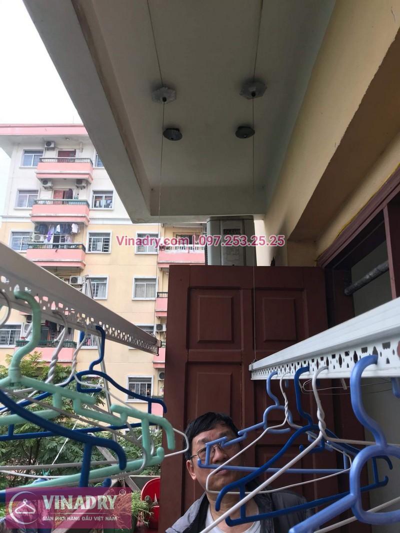 Sửa chữa giàn phơi thông minh - Thay bộ tời KS950 chất lượng cho nhà chú Kiêm tại tòa N7B căn 620 bán đảo Linh Đàm - 04