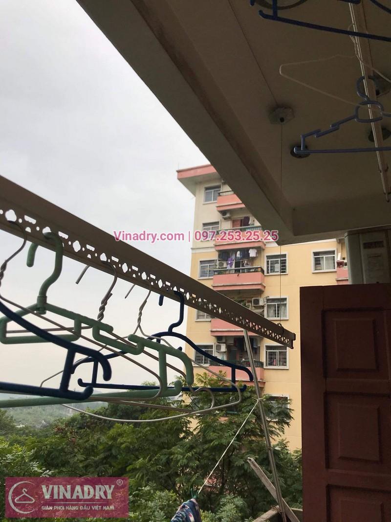 Sửa chữa giàn phơi thông minh - Thay bộ tời KS950 chất lượng cho nhà chú Kiêm tại tòa N7B căn 620 bán đảo Linh Đàm - 05