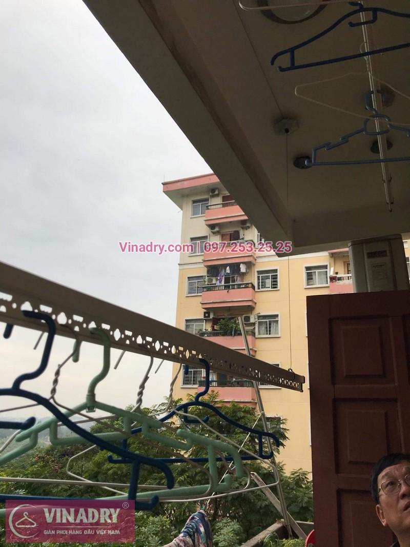 Sửa chữa giàn phơi thông minh - Thay bộ tời KS950 chất lượng cho nhà chú Kiêm tại tòa N7B căn 620 bán đảo Linh Đàm - 06